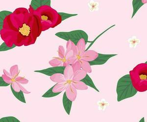 background, flowers, and green image