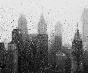 new york and rain image