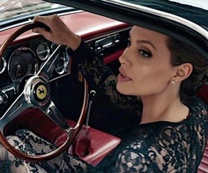 Angelina Jolie, makeup, and car image
