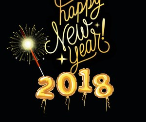 gold, happy new year, and new year image