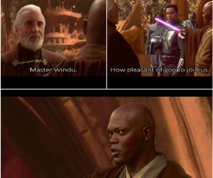 attack of the clones, count dooku, and funny image