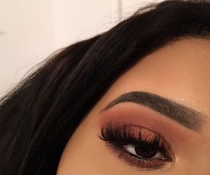 eyeshadow, lashes, and makeup image
