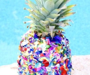 ananas, colorful, and summer image