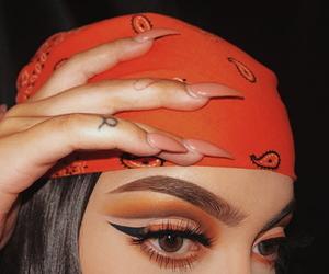 bandana, smokey eyes, and red image