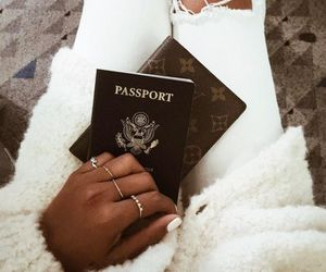 fashion, passport, and travel image