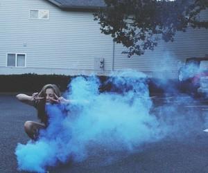 blue, grunge, and smoke image