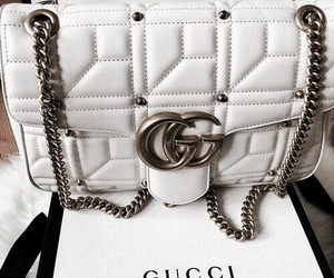bag, gucci, and white image