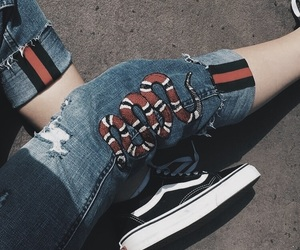 fashion, gucci, and vans image