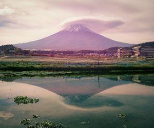 beauty, mt fuji, and pastel image
