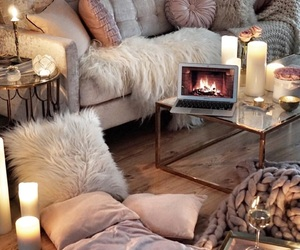 cozy, interior, and winter image
