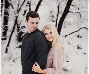 couple, engagement, and hug image