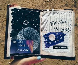 art, journal, and space image