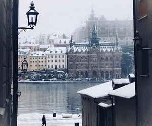 castle, christmas, and city image