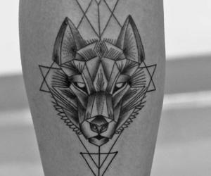 lobo, tattoo, and wolf image