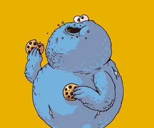 blue, orange, and cookie monster image