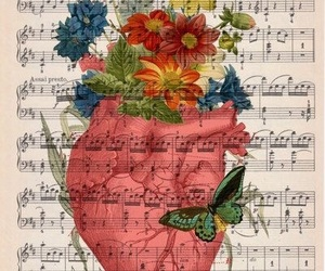 anatomy, music, and vintage image