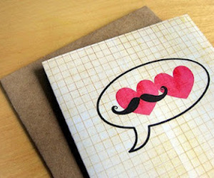 love, heart, and mustache image