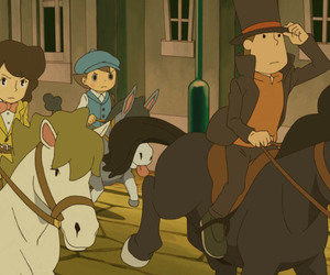 game, professor layton, and the miracle mask image