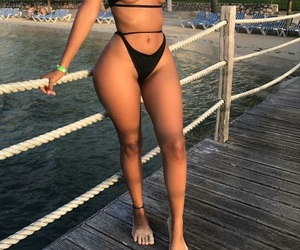 summer, thick, and swimsuit image
