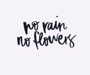 black, flowers, and phrase image