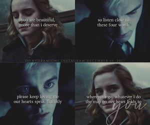 couple, dramione, and malfoy and granger image