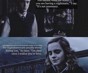 couple, hermione, and hogwarts image