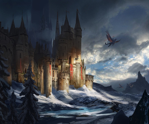 castle, wallpaper, and fantasy image