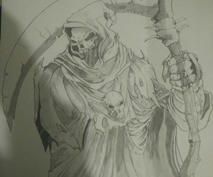 art, drawing, and drawing reaper image