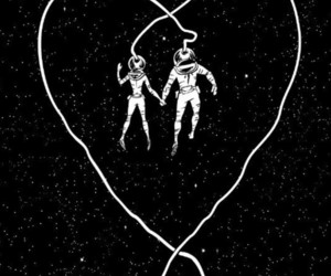 couple, space, and stars image