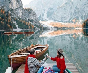 beautiful, river, and couple image