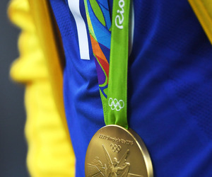 football, rio 2016, and gold medal image