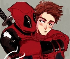 awesome, spiderman, and deathpool image