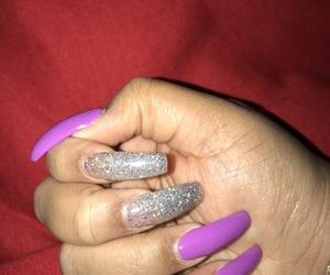 glitter, nails, and coffin image