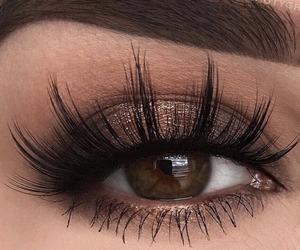 beauty, cosmetics, and eyelashes image