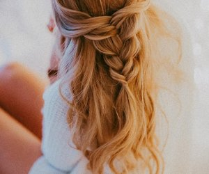 blonde, braid, and photography image