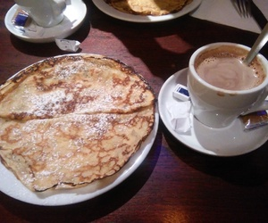 cafe, crepe, and france image