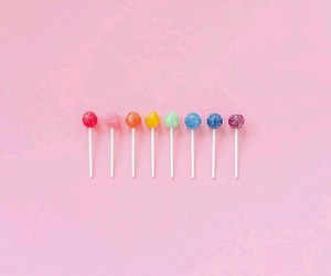 lollipop, pink, and rainbow image