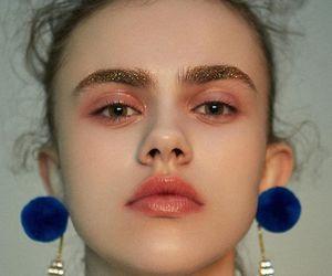 beauty, blue, and earrings image