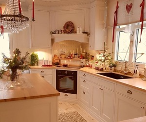 kitchen, farmhouse style, and country living image