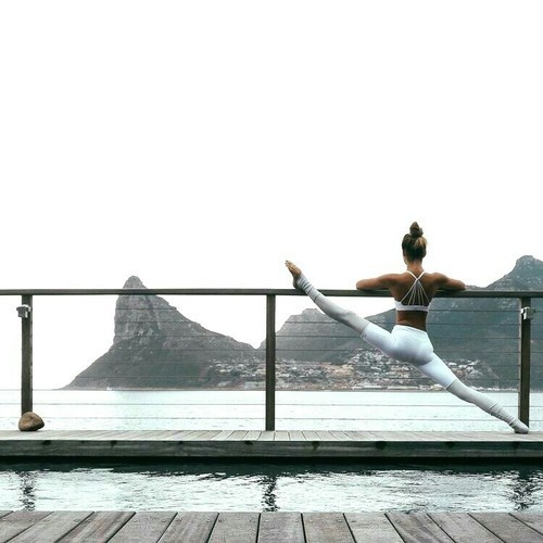 yoga, goals, and workout image