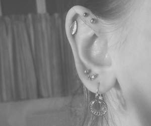 body modification, cartilage, and earrings image
