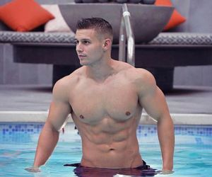 exercise, hot guys, and shirtless image
