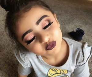 makeup, beauty, and child image