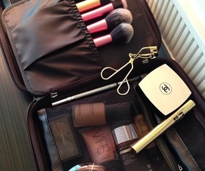 makeup, fashion, and makeup bag image
