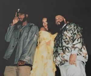 rihanna, bryson tiller, and dj khaled image