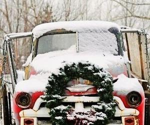 christmas, snowing, and Christmas time image