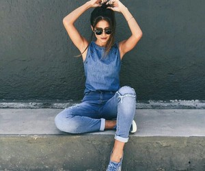 jeans, girl, and fashion image