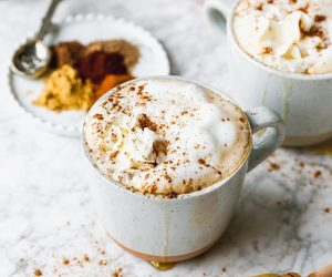 drink, food, and latte image