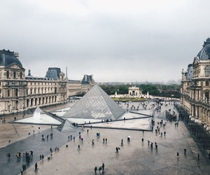 art, louvre, and people image