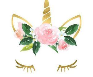 unicorn, wallpaper, and flowers image